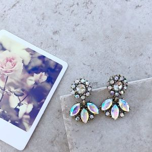 Jewelry - Flower Crystal Earrings